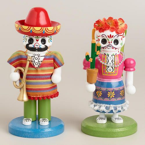 Cost Plus World Market Fall 2016 Collection: Wooden Los Muertos Nutcrackers At Cost Plus World Market
