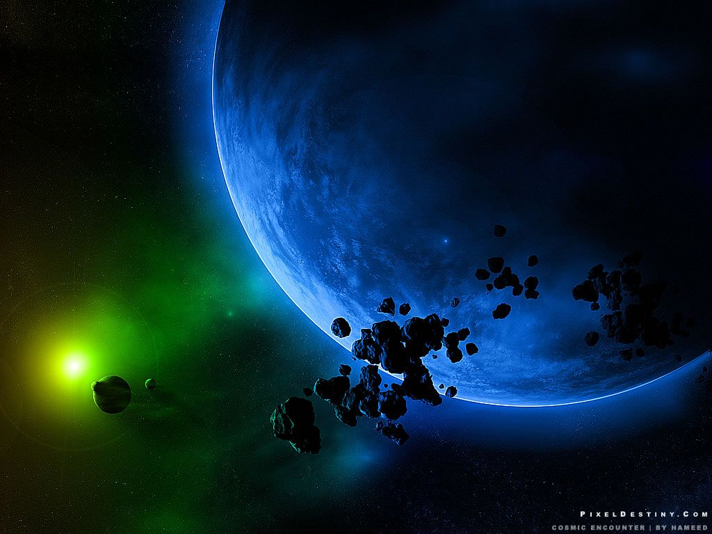 Full screen hd space asteroids meteoroids planets earth - Deep space wallpaper hd ...