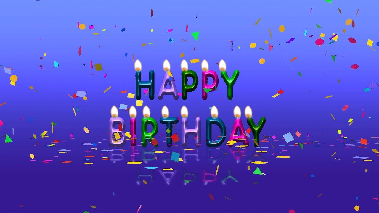 Colorful Happy Birthday Animation Video Free Download Youtube