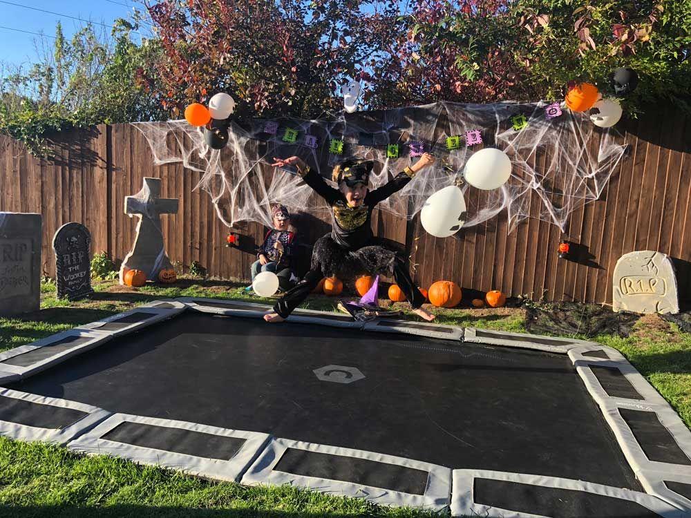 11ft x 8ft capital inground trampoline in ground