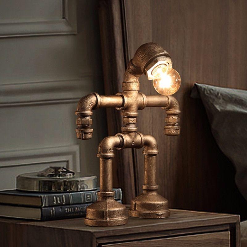 Vintage Brass & Iron STEAMPUNK Lamp Shade, Unique Light