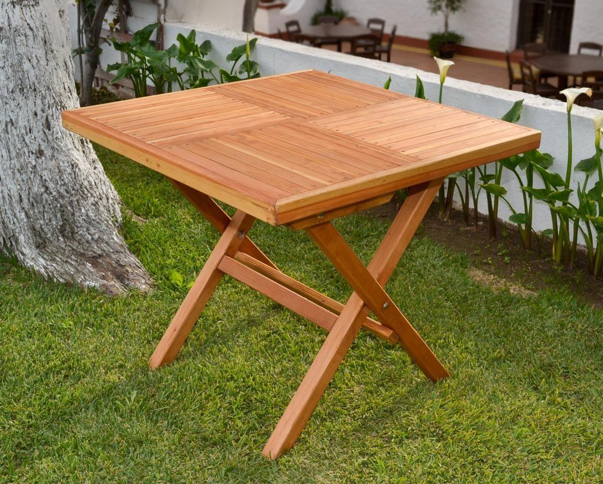 Square Folding Table Wood