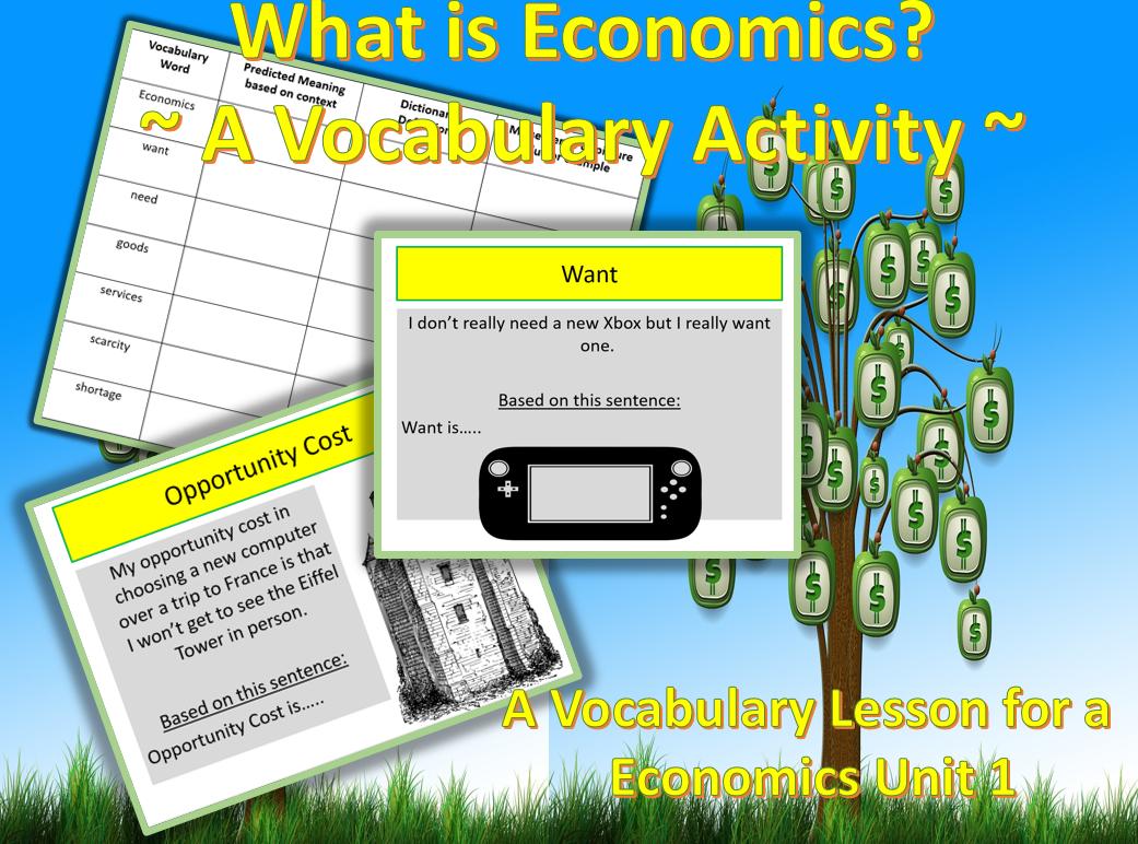 Economics Essential Vocabulary For Unit 1 Economics A