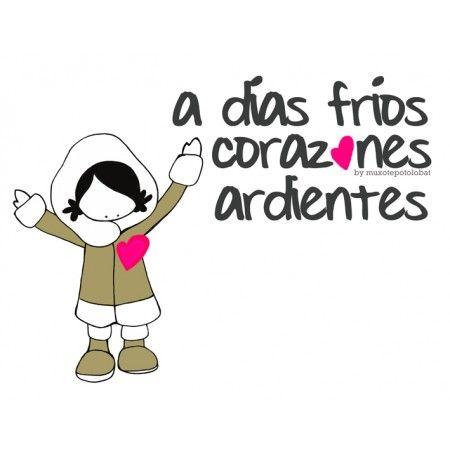Lámina Dias Frios Frases Invierno Fria Frases Y Frases