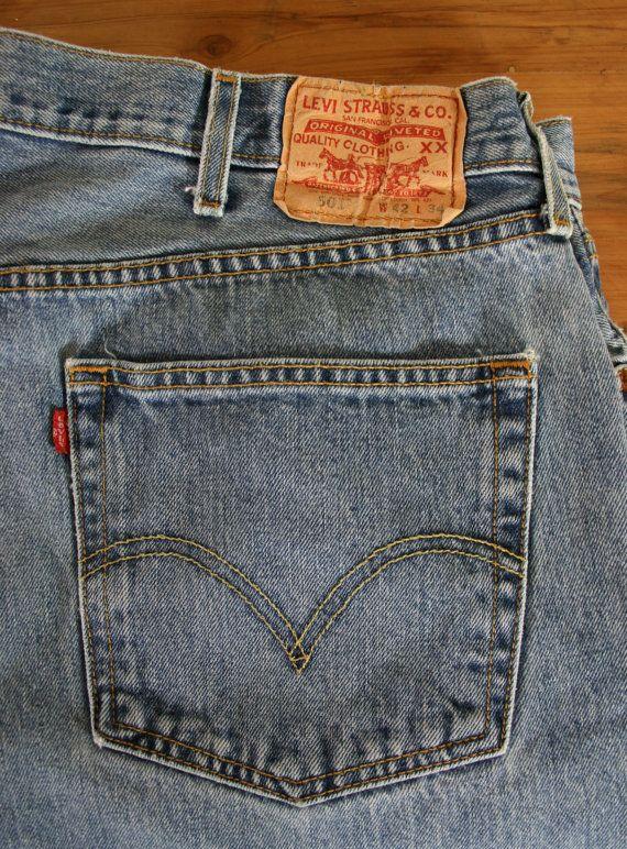 175bc4c1 Vintage Men's Levi's 501 Button Fly Jeans   My Etsy   Jeans, Men ...
