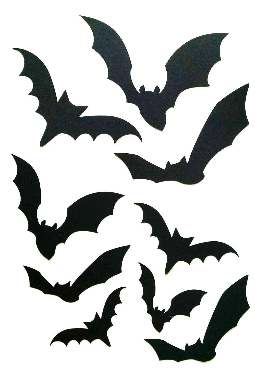 Halloween Black Bat Icon Set Halloween Silhouettes Halloween