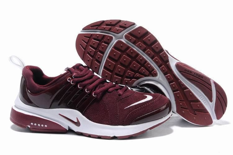 For Wholesale Mens Nike Air Presto Wine Red White Shoes