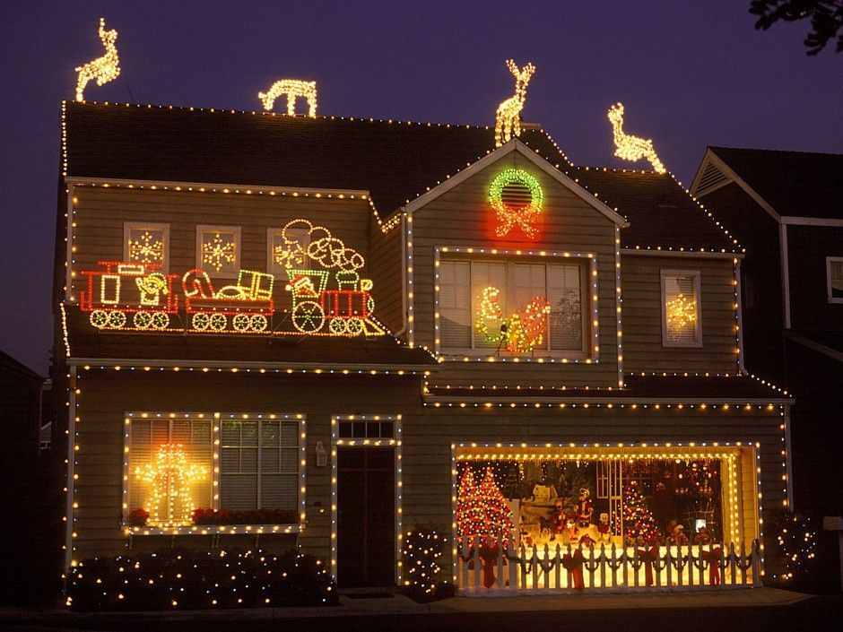Decoration Christmas Light House Effective Small Holiday Lamps For Outside Ideas