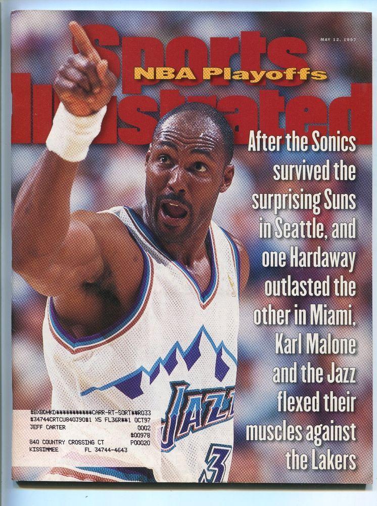 KARL MALONE UTAH JAZZ 'NBA PLAYOFFS' 1997 SPORTS
