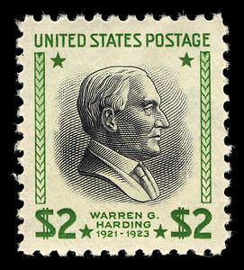 2 Warren G Harding Single Usa Stamps Rare Stamps