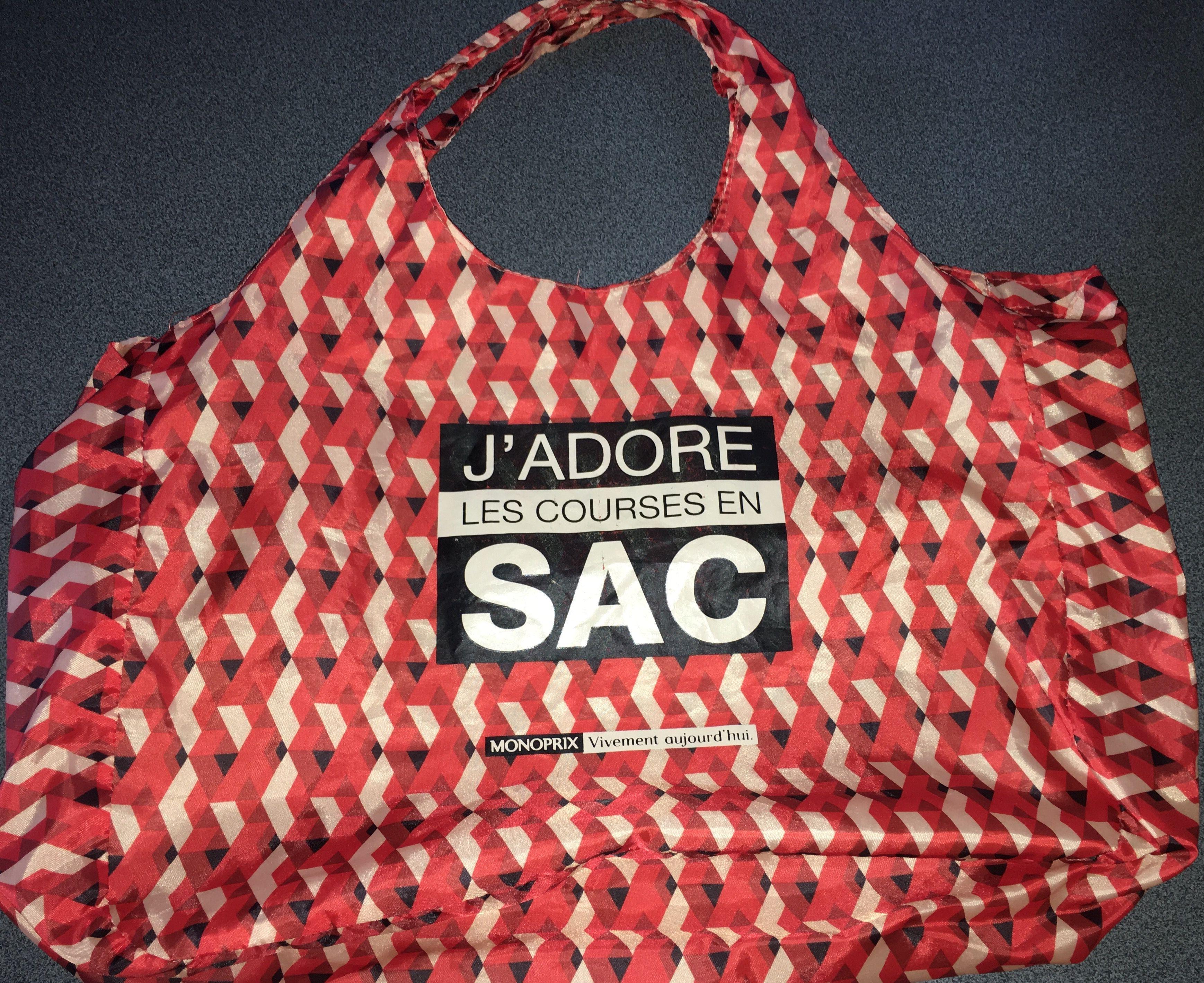 94a9cf80c5 Le Spyché - sac Monoprix j'adore les courses en sac cabas shopping bag tote  Monoprix 21/08/16