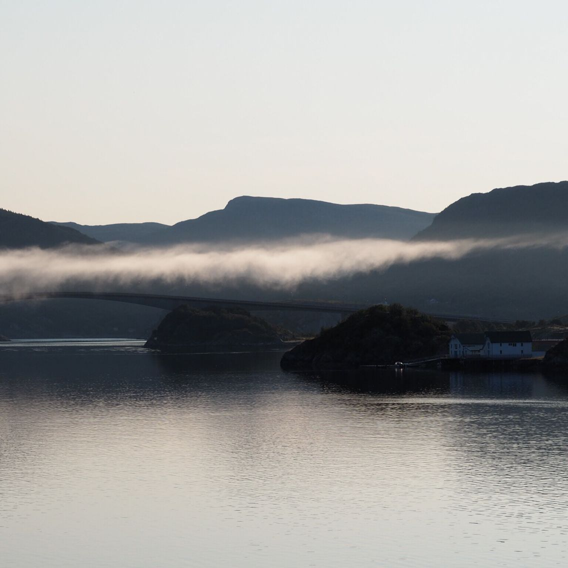 Åfjord, Norway on the drive trough Harsvika an early morning...