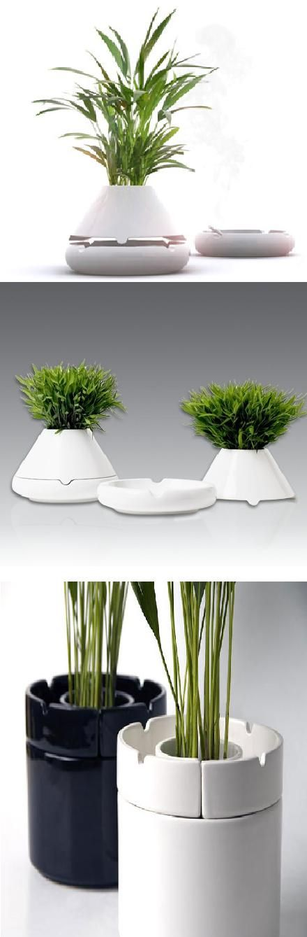 Flower pot and ashtray design