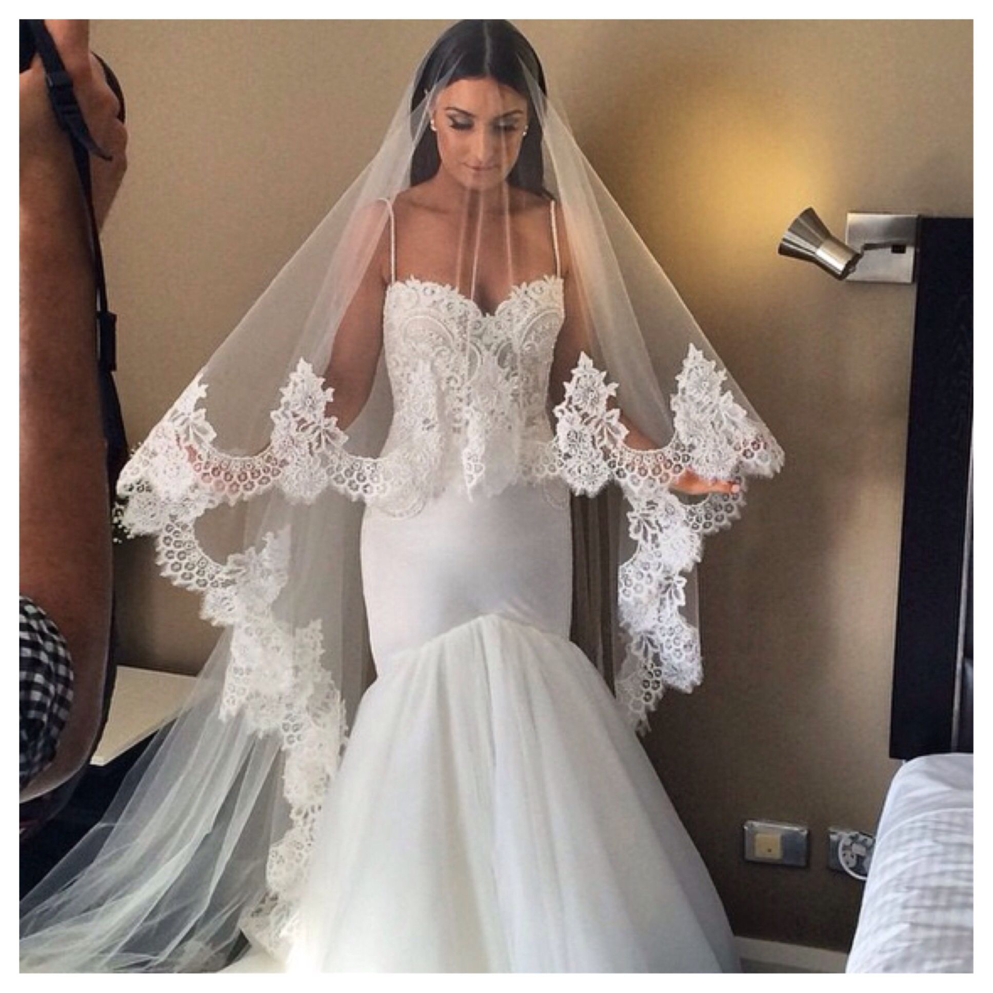 Spanish style veil Princess wedding dresses, Wedding