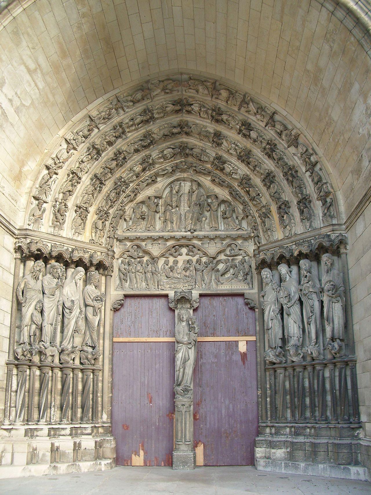 Pórtico catedral de Laon | Gótico Francés | Pinterest | Catedrales ...