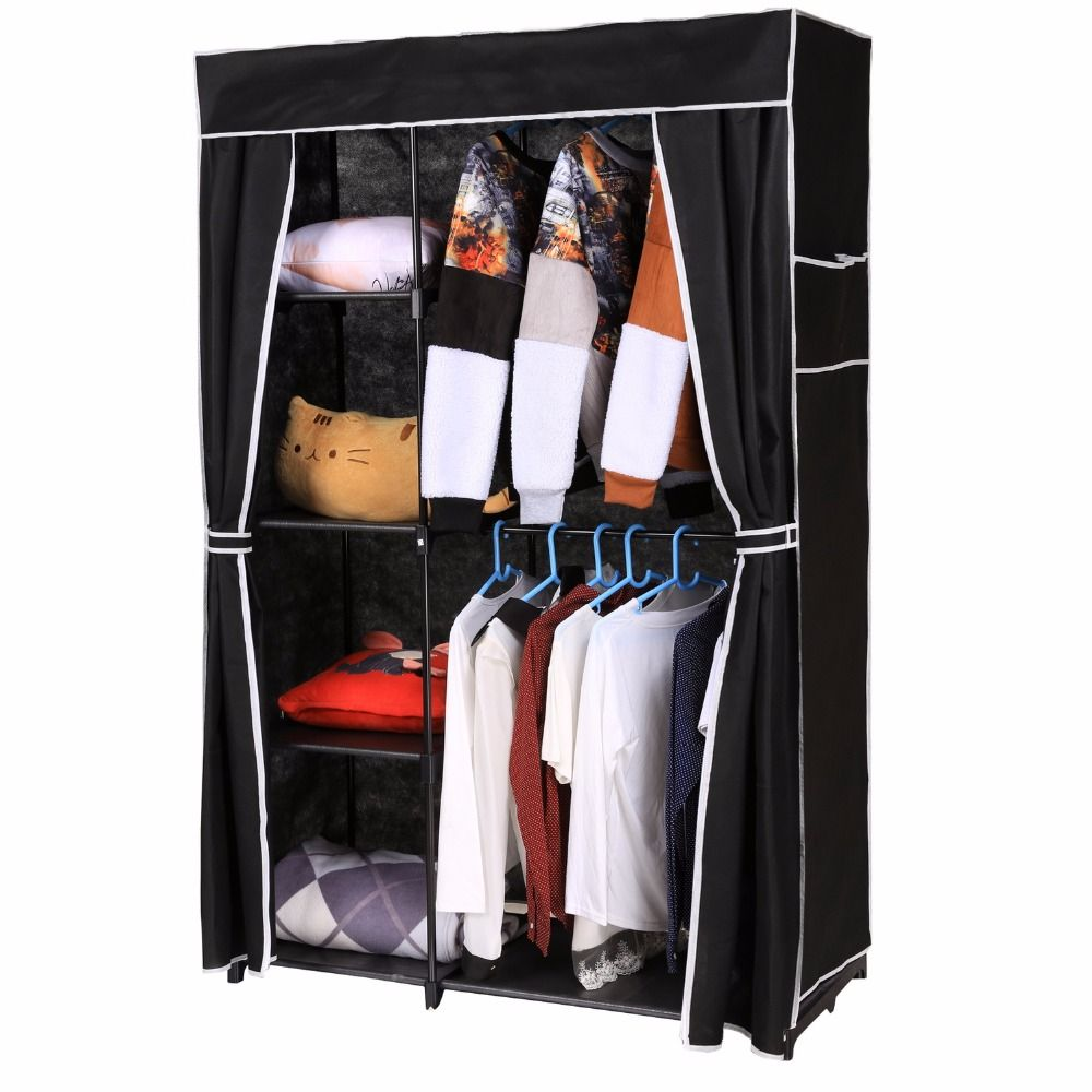in depot the wardrobe cabinet home double closet multi white hanging purpose