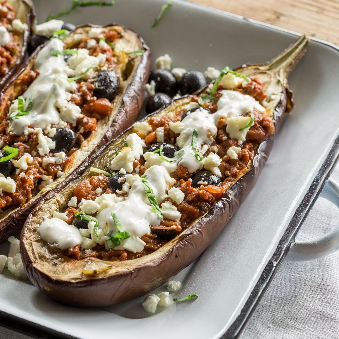 gef llte aubergine griechischer art rezept essen pinterest auberginen hackfleisch. Black Bedroom Furniture Sets. Home Design Ideas
