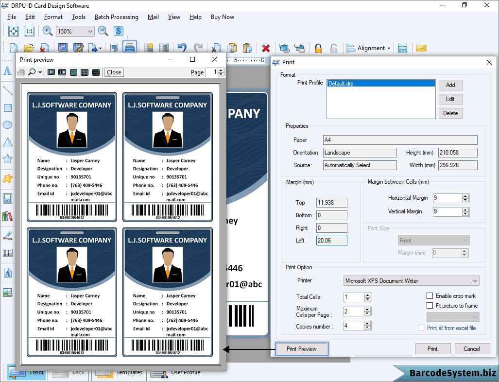 Identity Card Software Design Student Employee Faculty Photo Pertaining To Faculty Id Card Template Business Pr Id Card Template Design Student Card Template