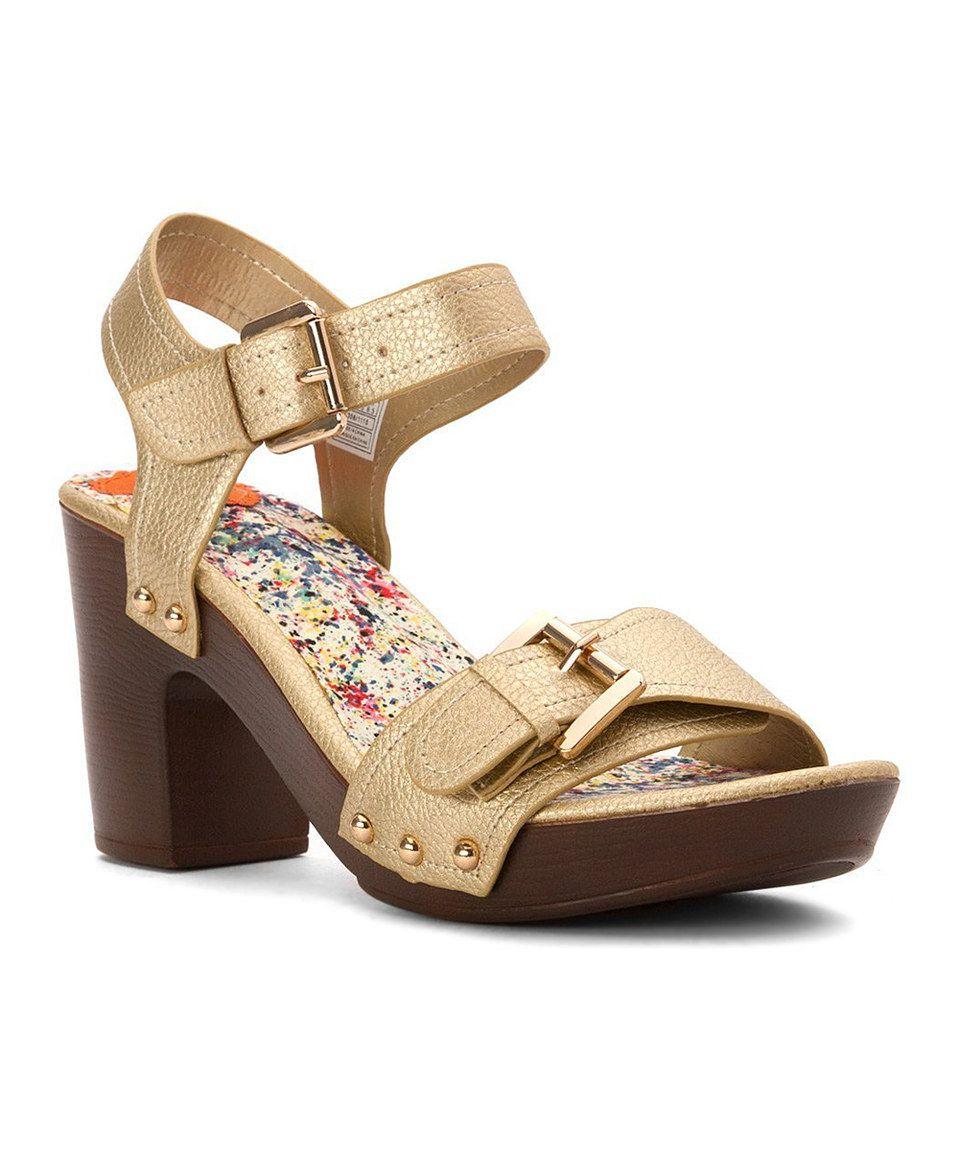 Womens Sandals Rocket Dog Padley Gold Trunk