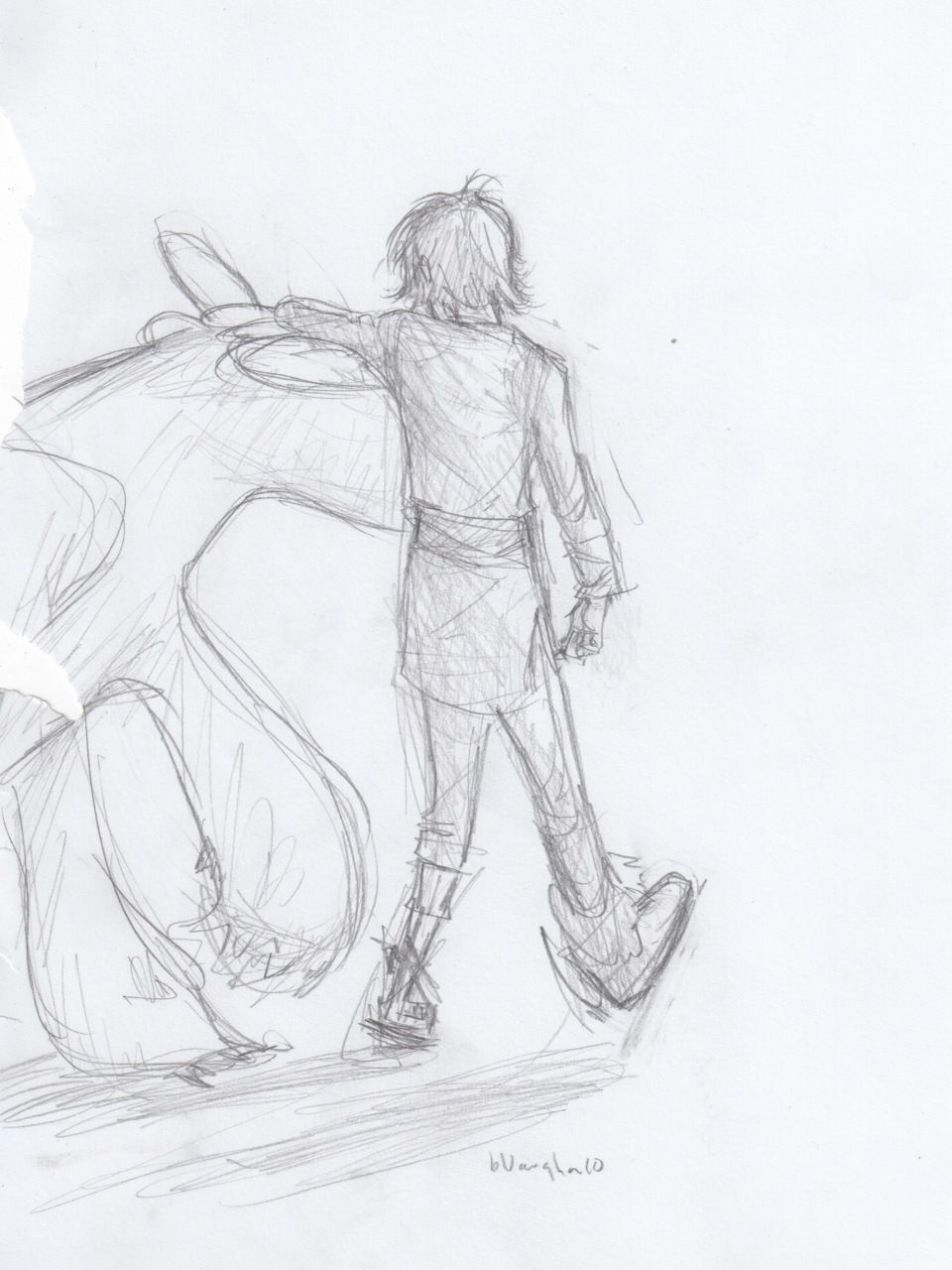 """Burdge """"Sketch from over break. """" ~ Hiccup and Toothless by Burdge bug."""