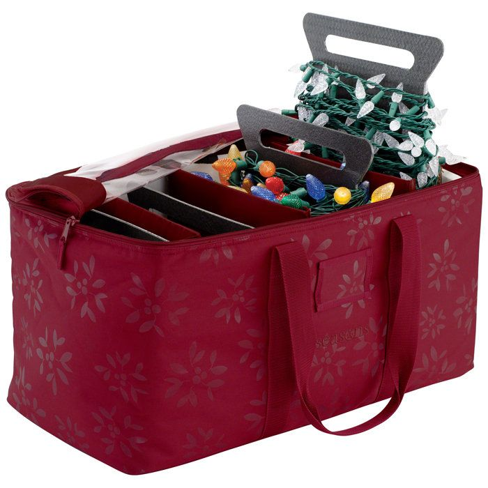 05f7f8db21 Christmas Lights Storage Duffel Bag Stores and organizes a huge amount of  lights on four light winders. U 36