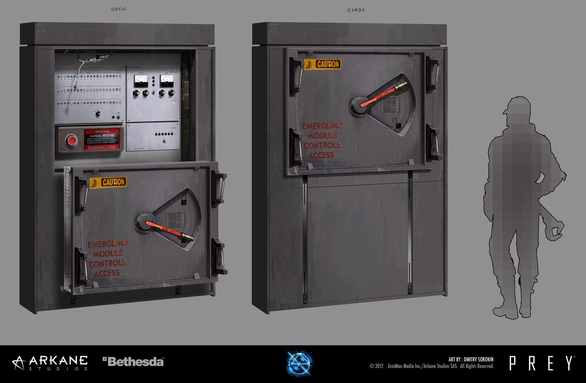 Artstation Prey Electrical Props Dmitry Sorokin 2d Game Art