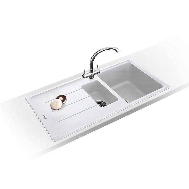 Good Franke Basis BFG 651 1.5 Bowl Kitchen Sink, Polar White