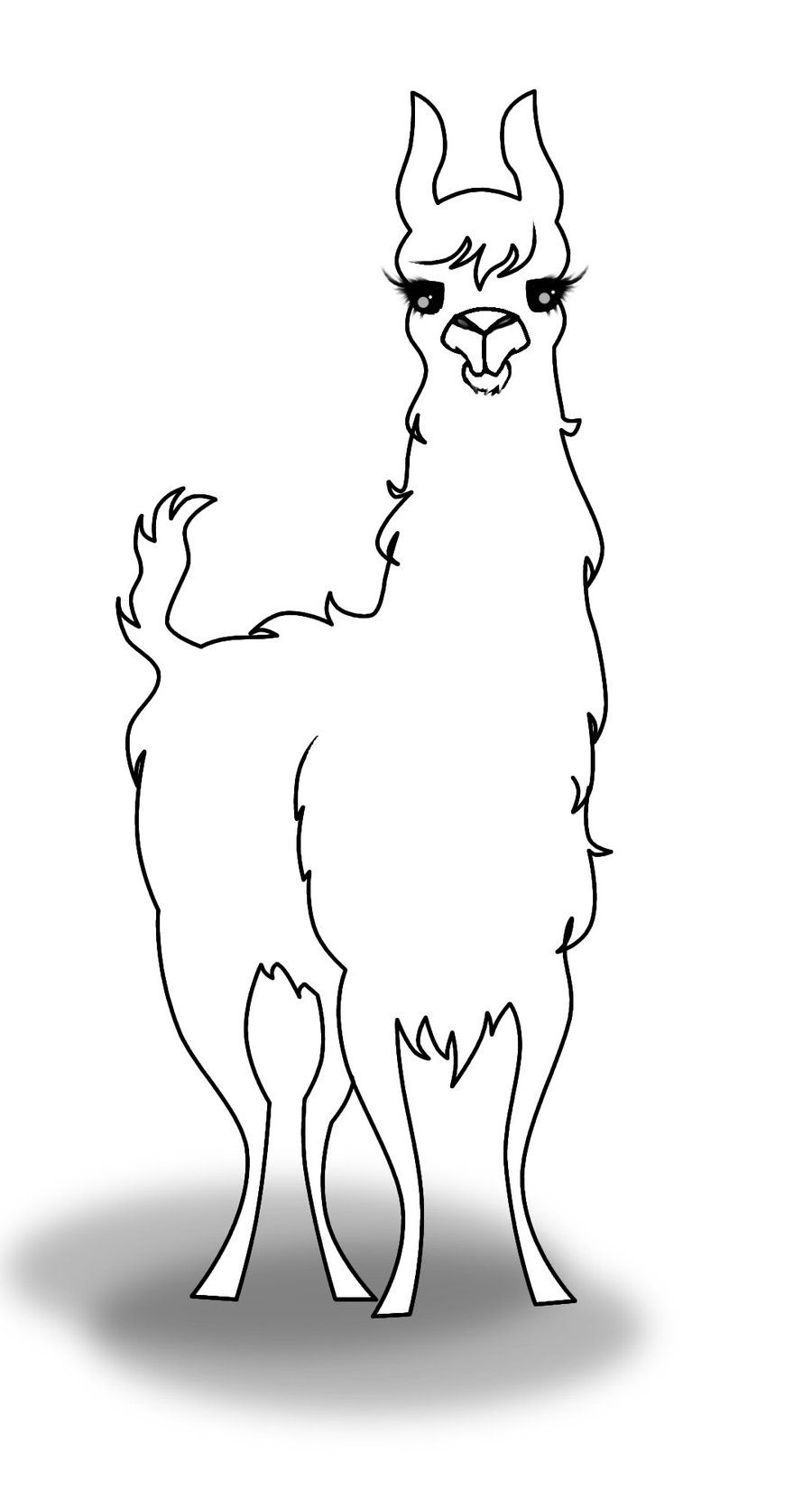 Llama Coloring Pages Llama Coloring Page Coloring Pages