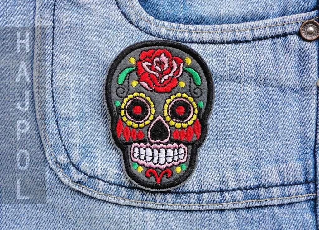 Naszywka Lata Aplikacja Meksykanska Czaszka Grey 7068617383 Oficjalne Archiwum Allegro Enamel Pins Accessories Fashion