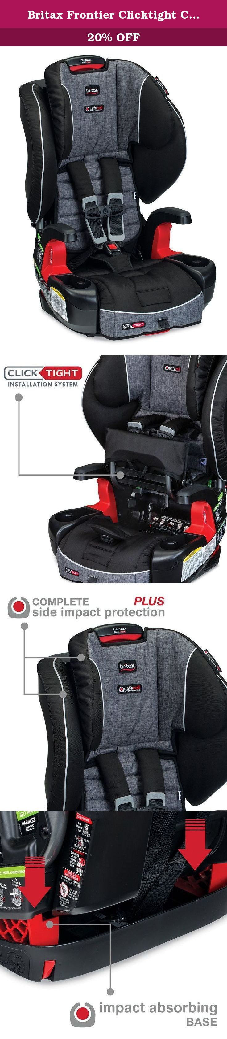 Britax Frontier Clicktight Combination Harness 2 Booster Car Seat Vibe The Perfect Ble Car Seats Booster Car Seat Car Seat Accessories