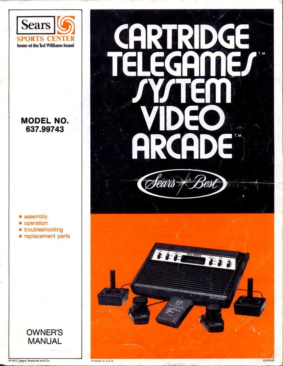 sears cartridge telegames system video arcade Classic