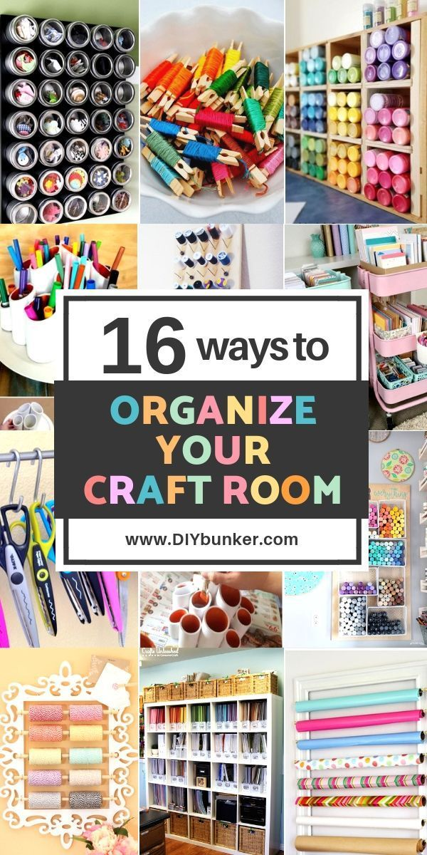 Craft Room Organization Ideas: 16 Ways to Store Supplies #craftroomideas