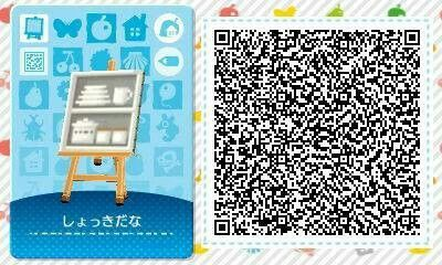 Kitchen shelf with dishes Qr codes animal crossing, Qr