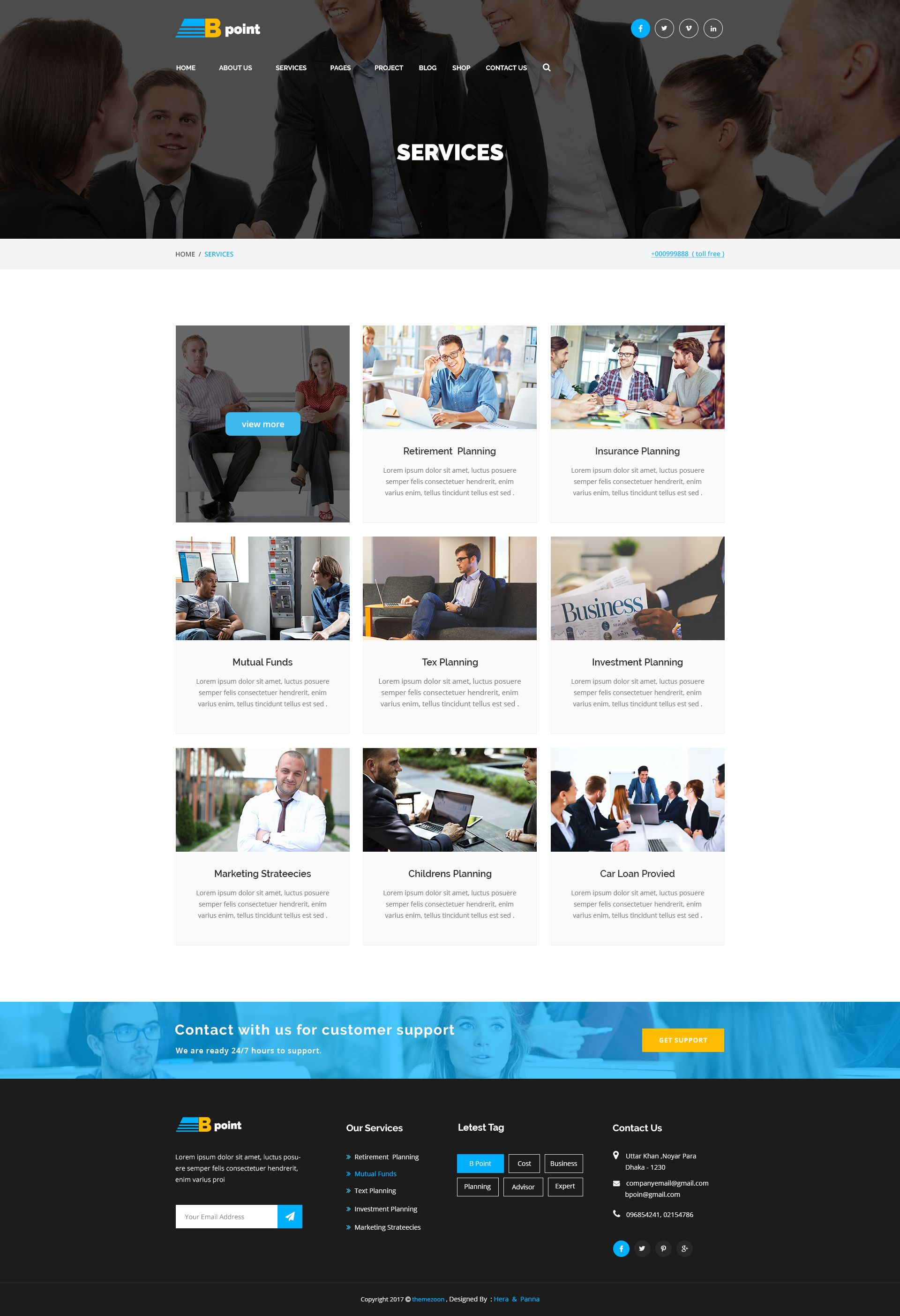 B Point Corporate Business And Consulting Psd Template