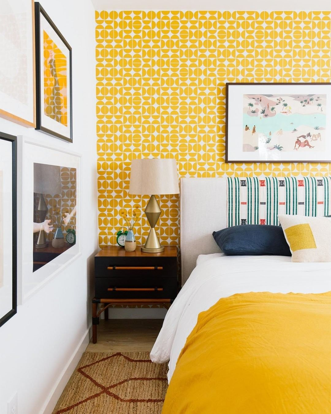 """Bright And Bold Guest Bedroom: Hunker On Instagram: """"Go Bright. Go Bold. 🤩 (📷:@dabito"""