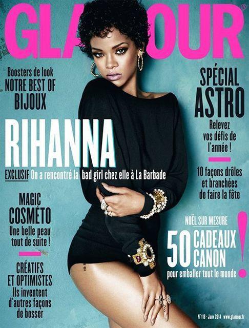 Glamour Paris January 2014 Rihanna