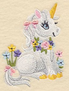 Soft and Sweet Unicorn design (L3220) from www.Emblibrary.com