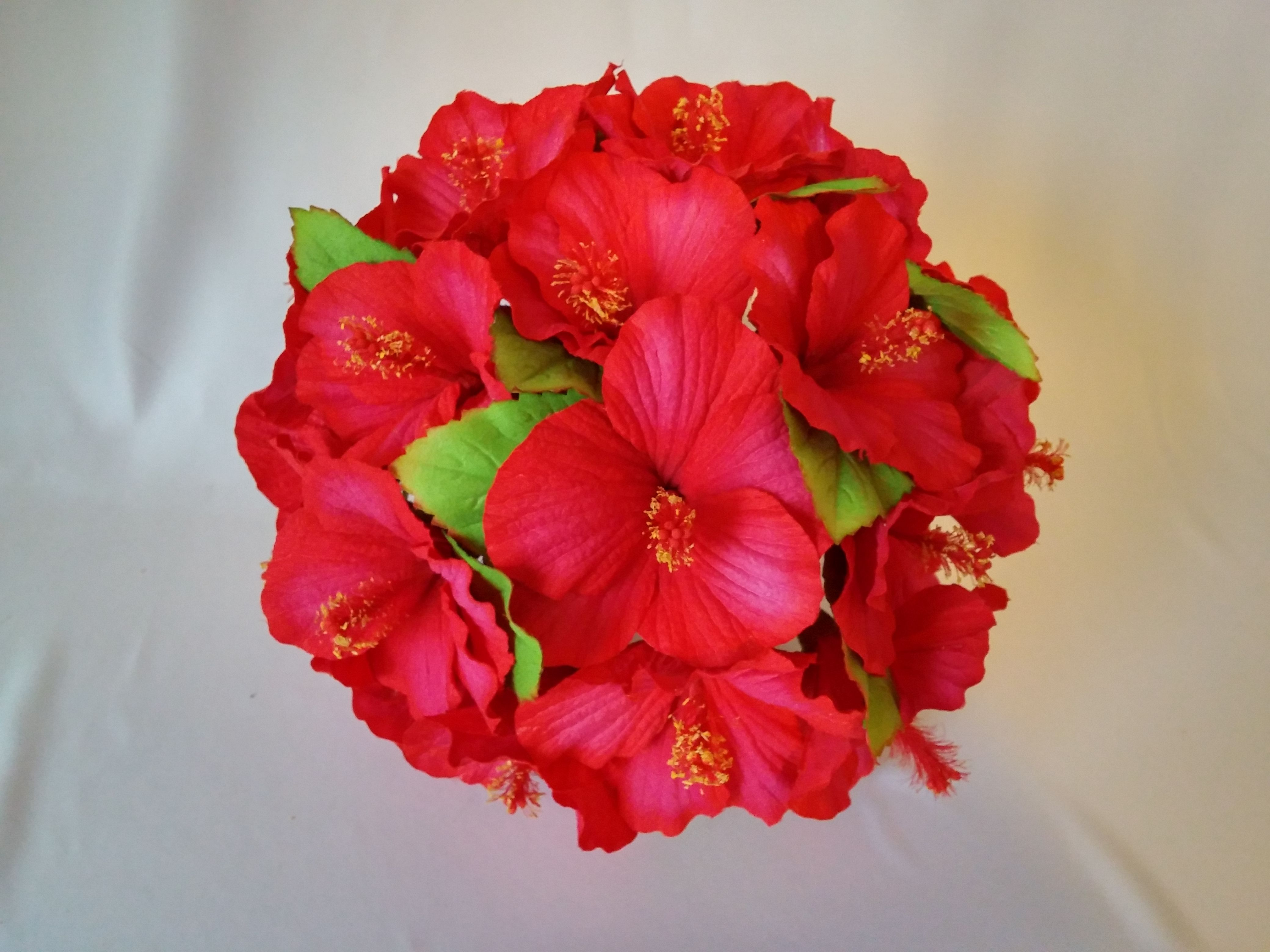 Red Hibiscus Wedding Bouquet And Prom Bouquet From Www