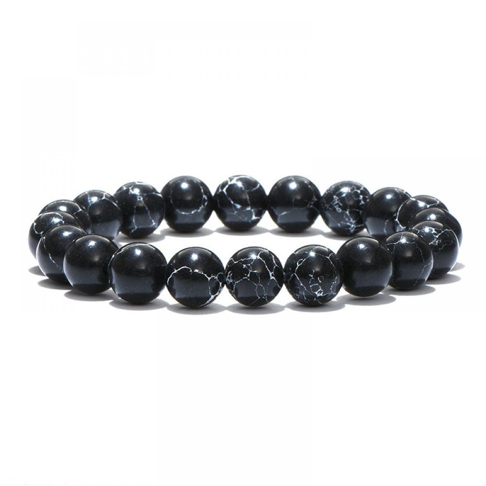 8MM Natural Stone Crown Skull Beads Balance Meditation Charm Women Men Bracelets