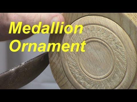 Woodturning a Medallion Ornament - YouTube