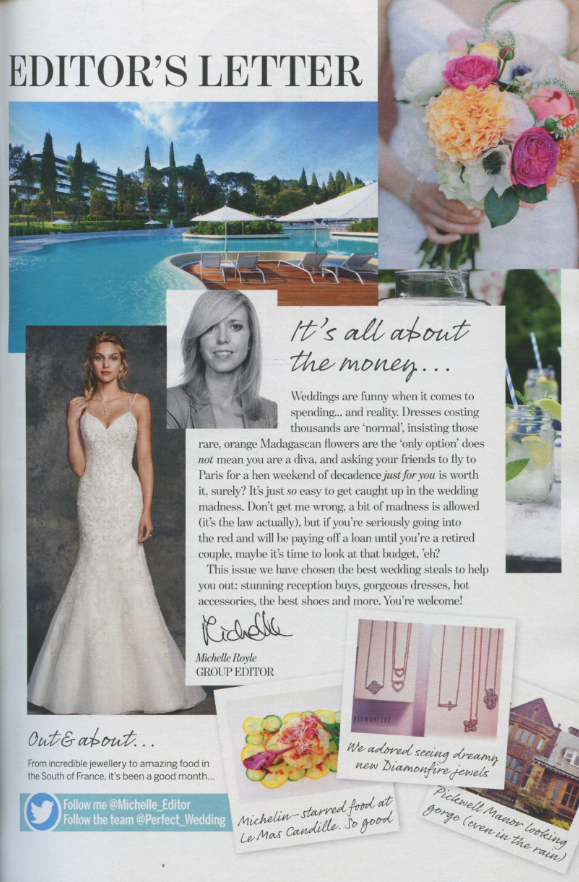 Editor S Letter In The June 2017 Issue Of Perfect Wedding Magazine Featured Photo From Instagram Diamonfire Display At Cmj Media Press Day