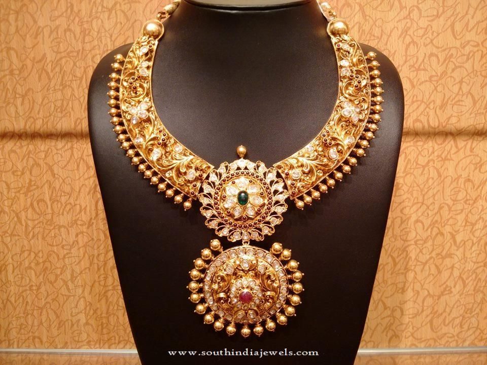 Latest Model Gold Bridal Necklace | Gold bridal jewellery ...