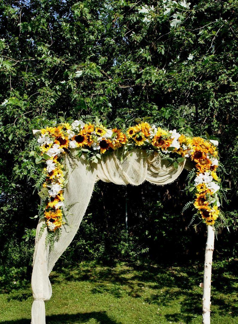 Wedding Garland,Sunflower Swag, Wedding Backdrop, Wedding