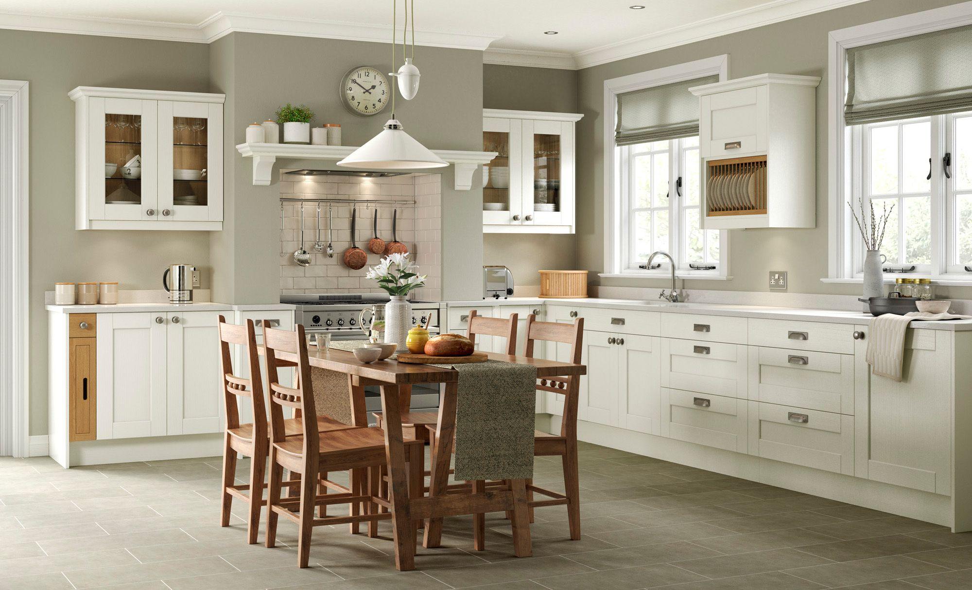 Shaker Kitchen Doors Kensington Ivory Classic Uform Kitchens