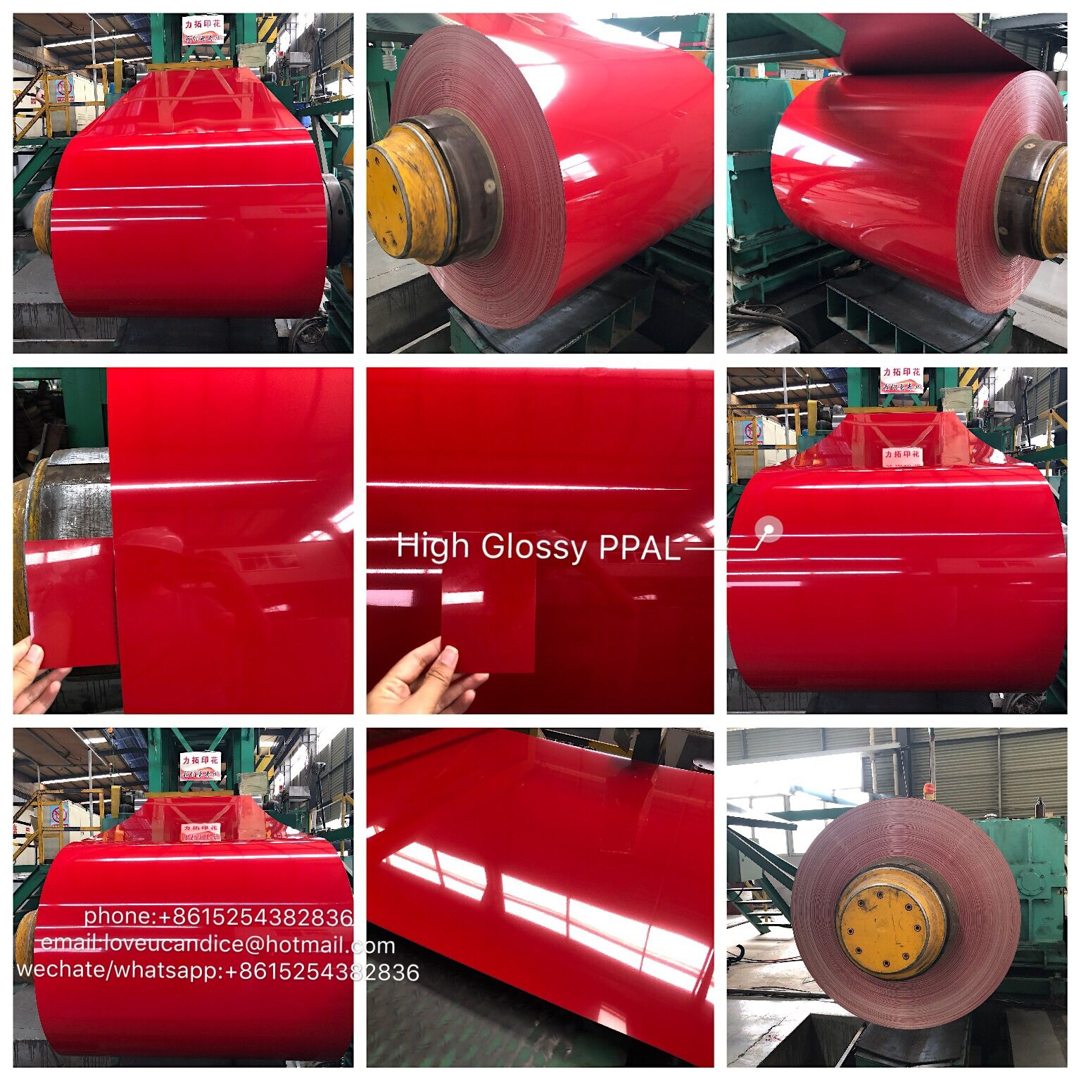 85 Glossy Red Ppal Coil Factory Price For Color Coated Aluminum Coil 1 3 5 8series Any Inquiry Pls Contact Me Wechate Whatsapp 861525438 Roofing Color Glossy