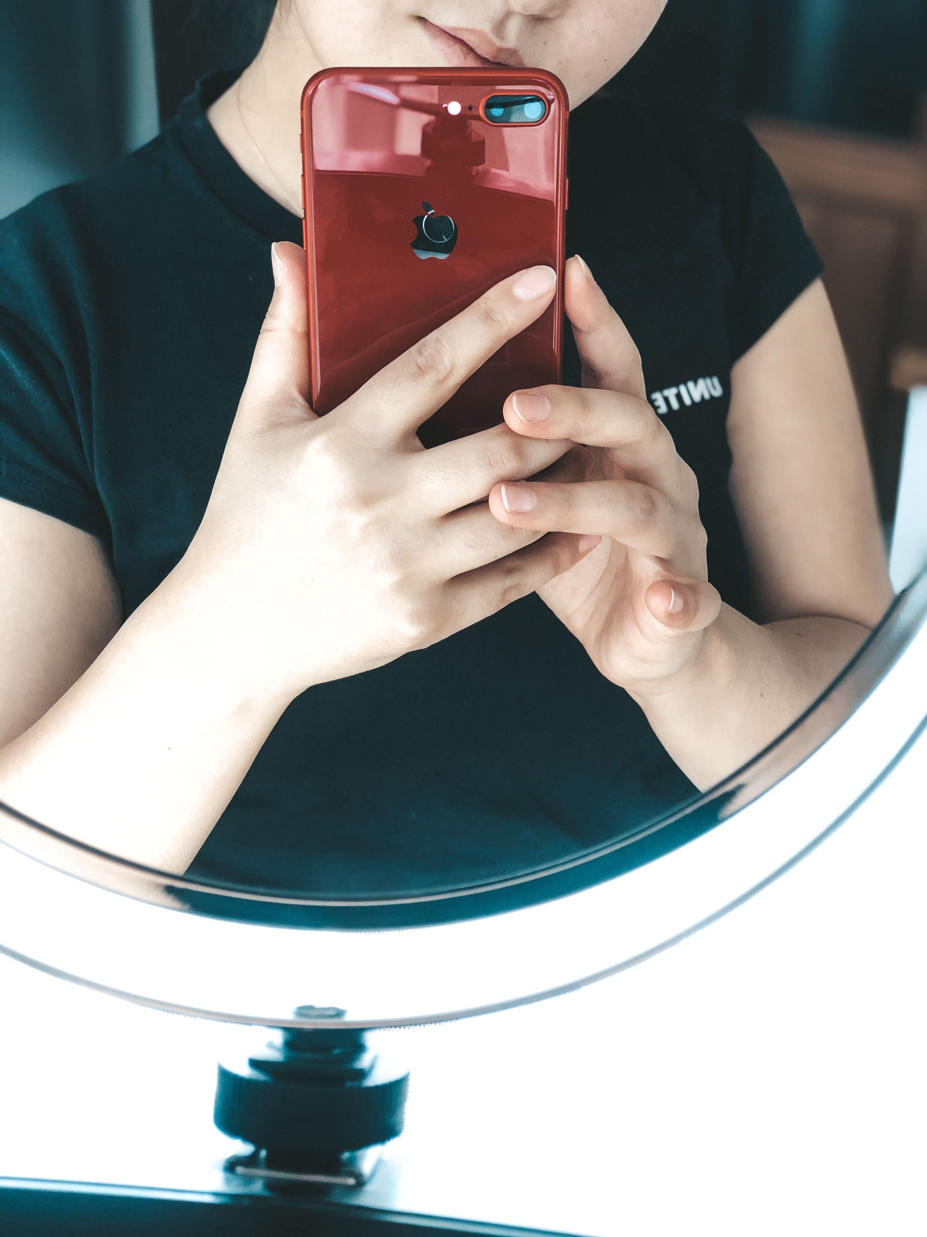 Обработка фото на Lightroom, фото у зеркала, идея для ...