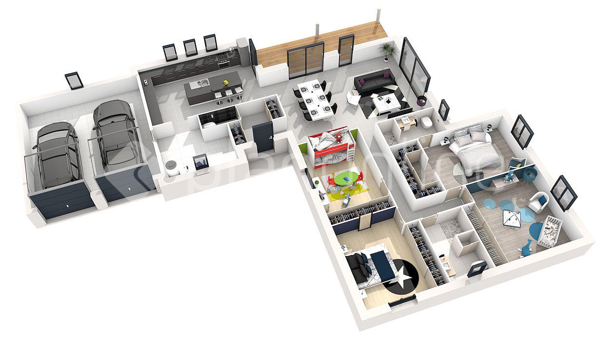 Maison Plain Pied 4 Chambres 3d 14