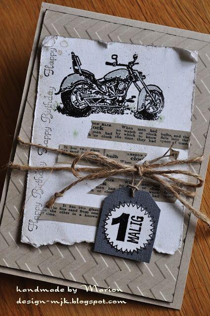 Stampin Up Gluckwunschkarte Zum Fuhrerschein Motorrad Kulthandwerk