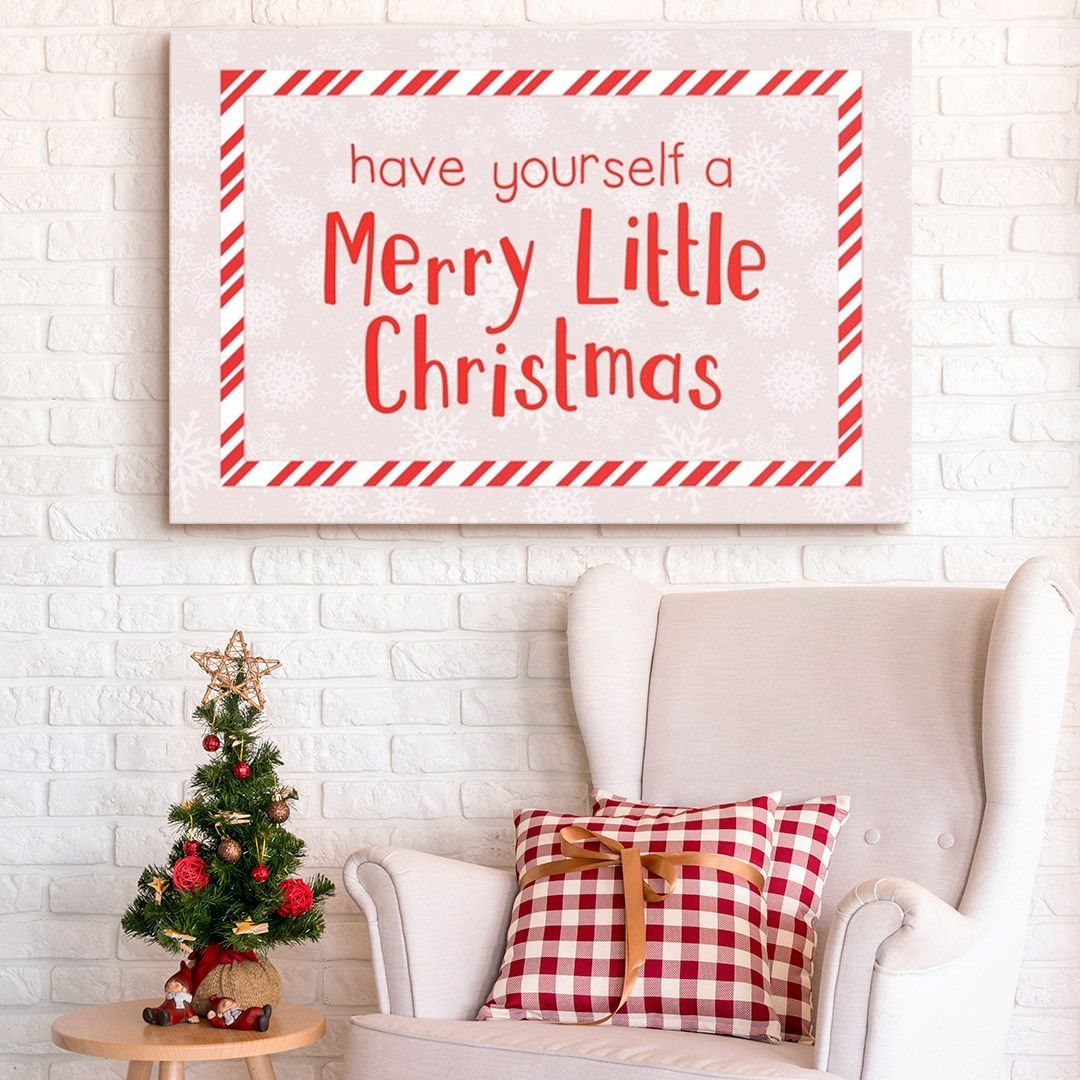 Have Yourself A Merry Little Christmas Red On White Merry Little Christmas Little Christmas Christmas Wall Decor