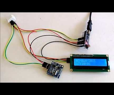 Arduino Nano: Show Date/Time From DS1307 Real Time Clock(RTC) on I2C